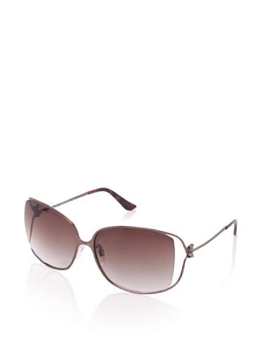 Moschino Women's MO618-04 Sunglasses, Bronze/Burgundy