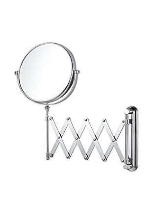 Nameeks Double Sided Adjustable Arm 3X Makeup Mirror Wall Mounted, Chrome Finish