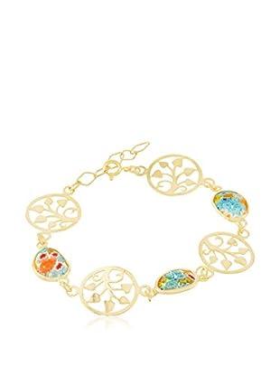 Cordoba Jewels Pulsera  plata de ley 925 milésimas bañada en oro