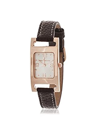 Via Nova Women's NWL289110Q-BR Brown/White Leather Watch