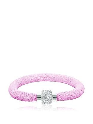 Diamond Style Pulsera Ice Crystal Mesh Pink
