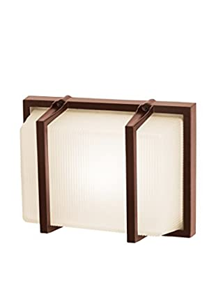 Access Lighting Neptune LED 1-Light Wet Location Wall Fixture, Bronze/Ribbed Frosted