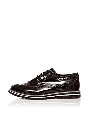 Star Jaguar Zapatos Derby Rugan (Negro)