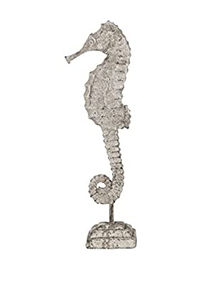 Privilege International Large Grey Ceramic Seahorse On Stand