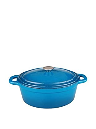 BergHOFF Neo 8-Qt. Cast Iron Oval Covered Casserole, Blue