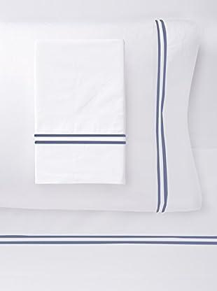 Dea Mimosa Sheet Set (White/Navy)