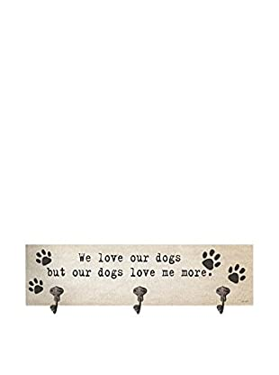 Artehouse We Love Our Dogs Leash Hanger, Beige/Black