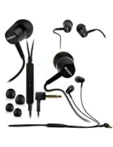 3.5mm In Ear Earbud Stereo Sound Noise Free Earphones Voice Dialing Headphones Mini Size Hand-Free Headset with Mic For Sony Xperia acro S / Xperia C E E1 J L M M2 P S U V SL T / Xperia Go / Xperia ion HSPA LTE / Xperia