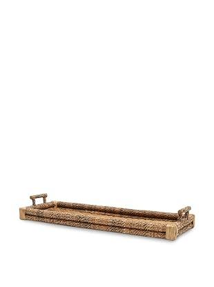Bamboo and Lampakanai Rectangular Tray