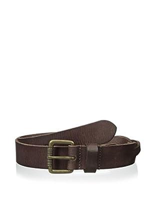 J. Fold Men's 32mm Partial Braid Leather Belt