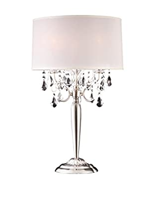 ORE International Crystal Silver 3-Light 29