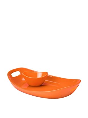 Rachael Ray Stoneware Chip 'N Dip (Orange)