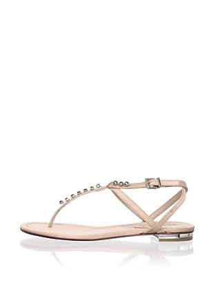 Schutz Women's Satin Thong Sandal with Jewels (Pessego)