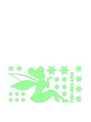 Ambiance Sticker Wandtattoo Tall Fairy And Stars Glow In The Dark