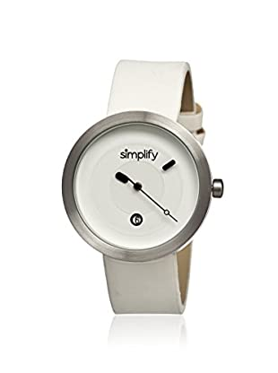 Simplify Men's SIM0303 The 300 White Leather Watch