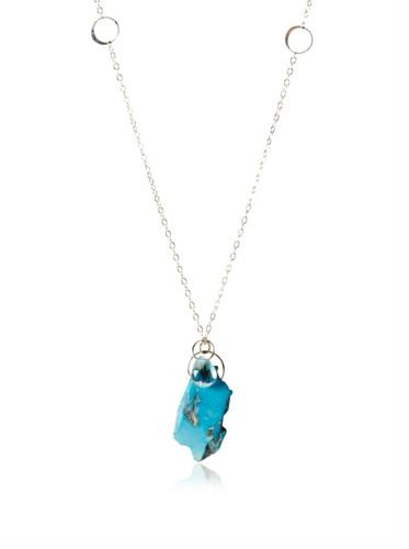 Melissa Joy Manning Aquamarine & Turquoise Slice Necklace
