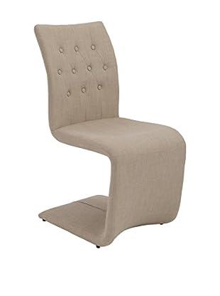 Eurostyle Zad Side Chair, Tan