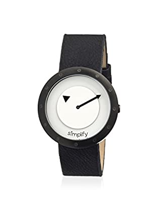 Simplify Women's 2205 The 2200 Black & White Leather Watch