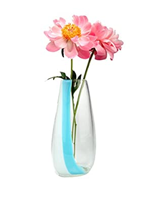 Chive Small London Vase, White/Blue