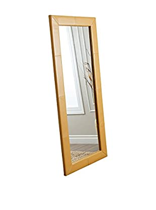 Abbyson Living Windsor Leather Large Floor Mirror, Yellow