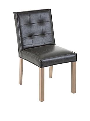 Stuhl 2er Set schwarz