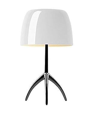 Foscarini Tischlampe Lumiere Big aluminium/weiß