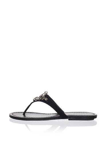 Schutz Women's Thong Sandal with Jewels (Preto)