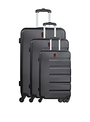 GEOGRAPHICAL NORWAY Set de 3 trolleys rígidos Shutter