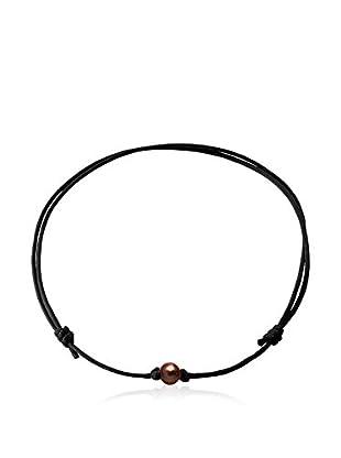 Compagnie générale des perles Collana Marrone Scuro