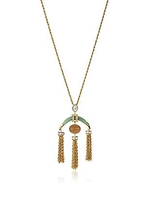 Rachel Zoe Aventurine Tassel Pendant Necklace