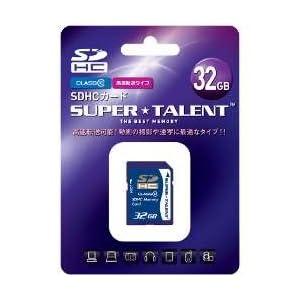 【クリックで詳細表示】Super Talent/スーパータレント SDHCカード Class10 32GB 日本語パッケージ ST32SDC10