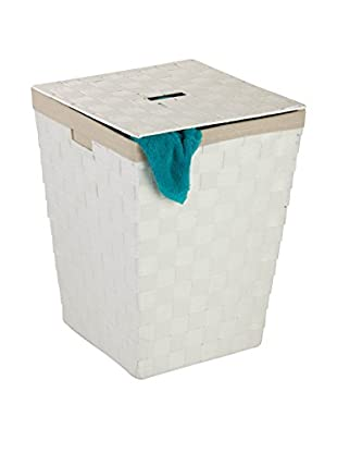 Honey-Can-Do Woven Hamper with Liner, White