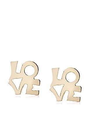 Mindy Harris Gold Love Earrings