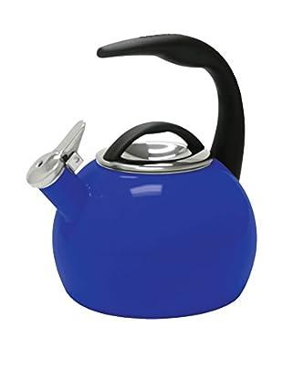 Chantal 40th Anniversary Enamel-on-Steel 2-Qt. Teakettle, Indigo Blue