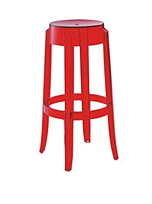 Furniture Contempo Judi Bar Stool, Red