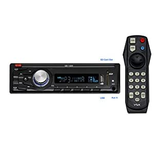 VOX Car Stereo (1204) with Remote, FM, MP3 Player, USB, AUX in and SD Card Support