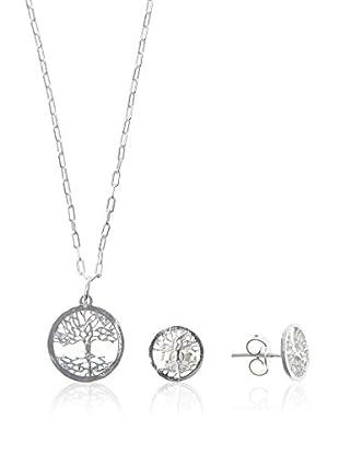 Silver Luxe Conjunto de cadena, colgante y pendientes plata de ley 925 milésimas