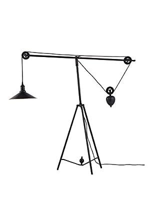 Zuo Jasper Floor Lamp, Antique Black/Gold