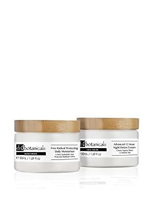 Dr Botanicals Feuchtigkeitscreme 2 tlg. Set Free-Radical Protecting Daily Moisturiser + Advanced 12 Hour Night Detox Cream
