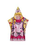 Baby Girls Polyester Fiber Bathroom Robes Towels Shower Cartoon Hooded Soft Washcloth Blankets Beach Children (#1)