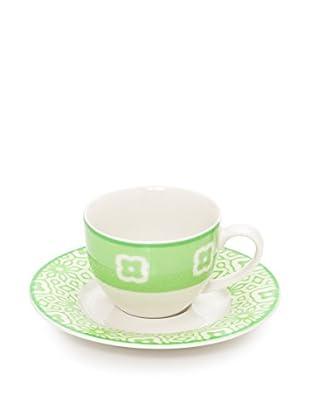 Tognana  Kaffeetasse mit Untertasse 6er Set Gruftas grün