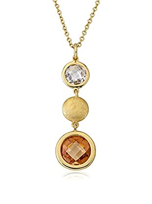 Riccova Arctic Mist Champagne Triple Drop Pendant Necklace