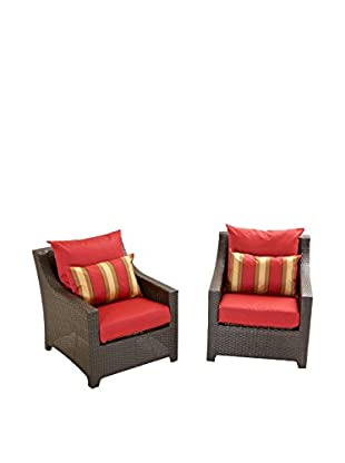 RST Brands Deco Set of 2 Club Chairs, Red