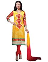 7 Colors Lifestyle Yellow Coloured Cotton Unstitched Churidar Material - ADQDR2002HYBY