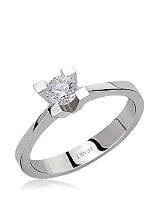 Divas Diamond Anillo 0,30 ct Gold Diamond Solitaire (Plateado)