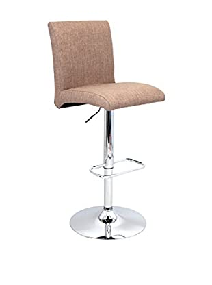 LumiSource Tintori Bar Stool, Medium Brown
