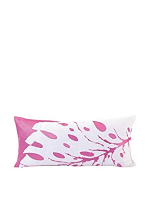 Trina Turk Peacock Leaf Pillow, Pink
