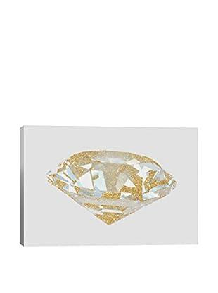 Natasha Westcoat Gold Diamond I Canvas Print