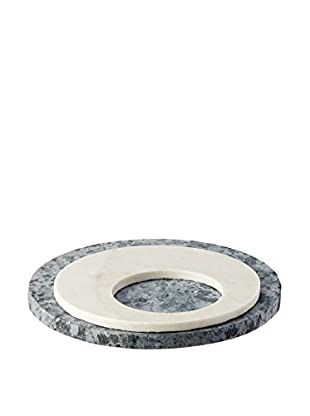 SPARQ Home Pizza Stone with Marble Trivet