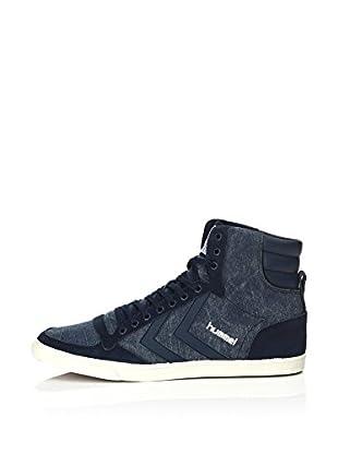 Hummel Sneaker Slim Stadil Washed High (blau)